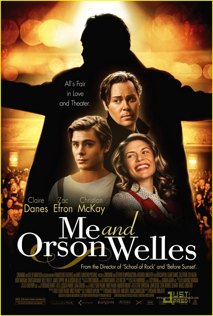 me and orson welles poster zac efron photo 8638482