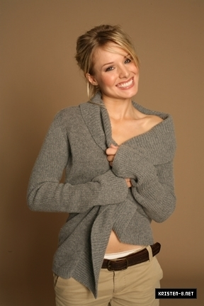 Kristen Bell wallpaper possibly with a cardigan and a pullover called New Co-ED Photoshoot Outtakes