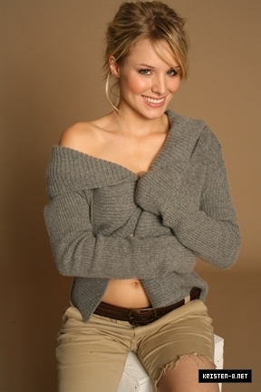 Kristen Bell wallpaper probably containing a cardigan, a pullover, and a sweater entitled New Co-ED Photoshoot Outtakes