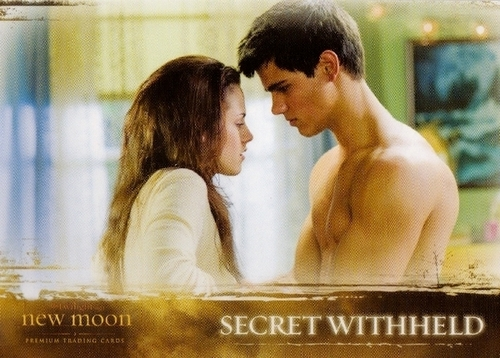 Taylor/Jacob Fan Girls wallpaper possibly with a portrait and skin titled New Moon Trading Cards