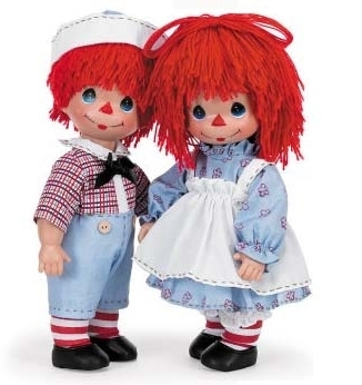 Precious Moments Raggedy Ann and Andy