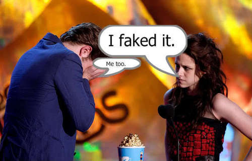 Rob & Kristen - funny caption