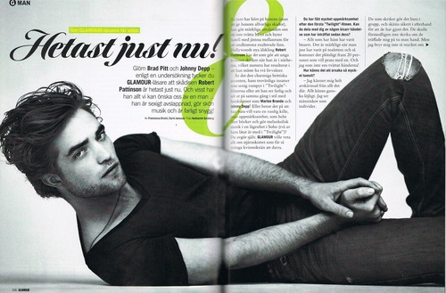 Rob in Sweden's Glamour Magazine