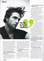 Rob in Sweden's Glamour Magazine  - twilight-series photo