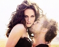 Robert and Kristen Cheek Kiss - twilight-series photo