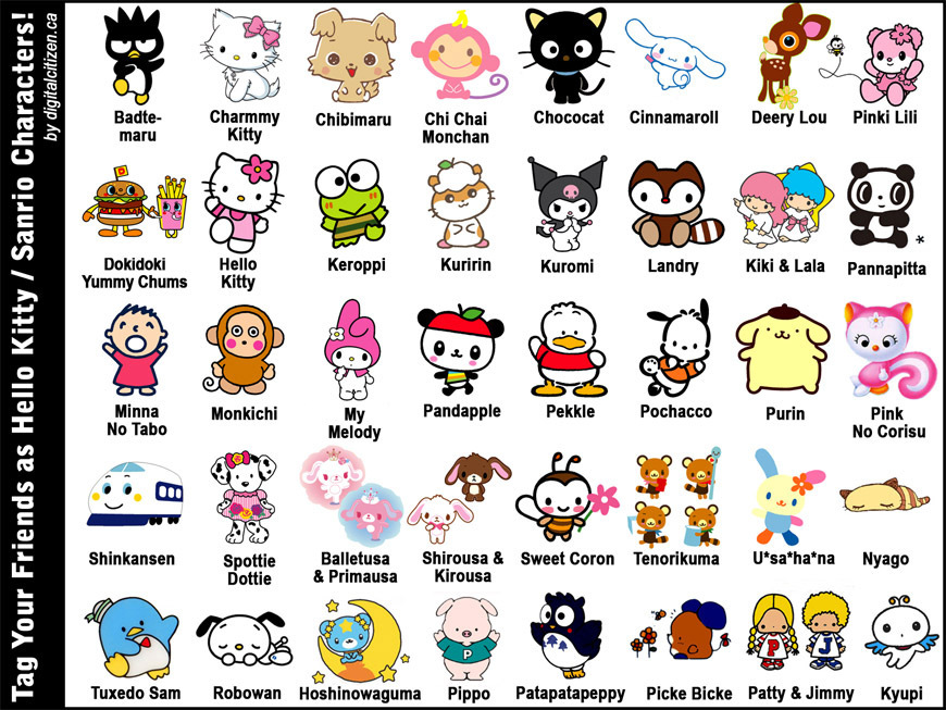 hello kitty character set - photo #44
