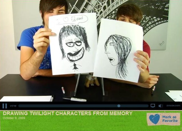Smosh drawing Twilight characters