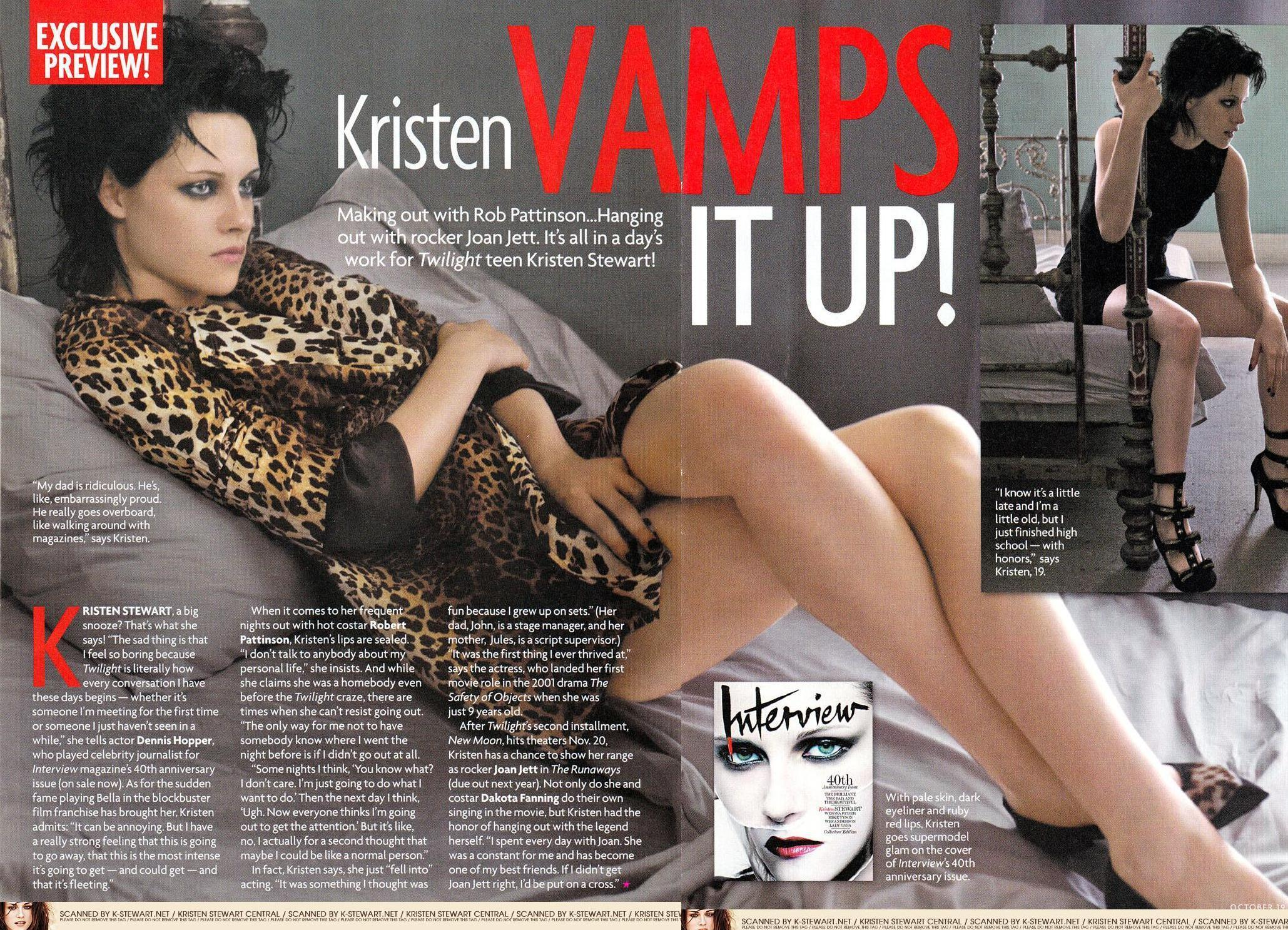 star, sterne Magazine Scan of kristen