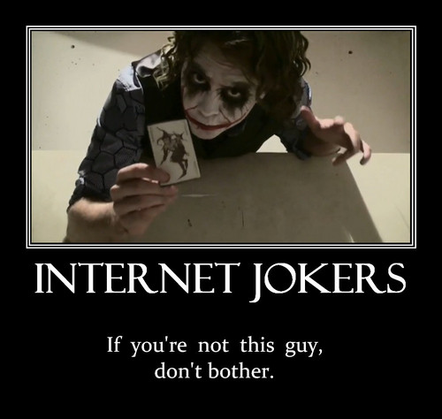 The Joker Blogs Motivational Poster