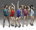 The Saturdays Wordshaker promoshoot