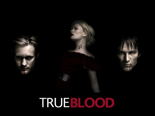 ट्रू ब्लड वॉलपेपर probably containing a portrait called True Blood Eric, Sook and Bill