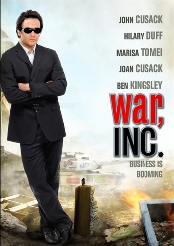 John Cusack karatasi la kupamba ukuta with a business suit, a suit, and a well dressed person entitled War, Inc
