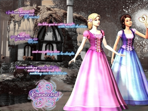 Barbie wallpaper probably with a gown, a dinner dress, and a bridesmaid titled barbie