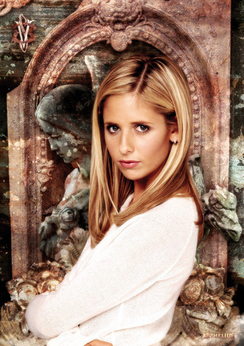Buffy the Vampire Slayer achtergrond possibly containing an outerwear and a badjas called buffy fan art