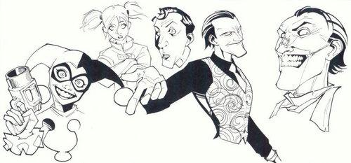 sketchy - Joker and Harley