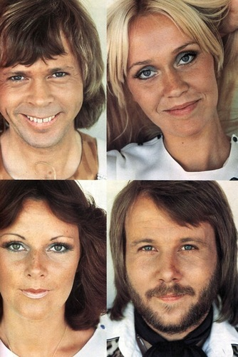 ABBA wallpaper with a portrait entitled ABBA