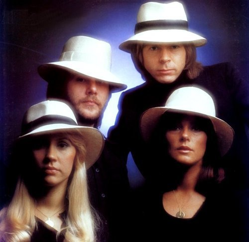 ABBA wallpaper possibly with a boater and a fedora entitled ABBA