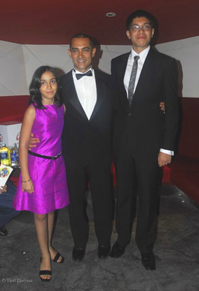 Aamir with kids Junaid and Ira