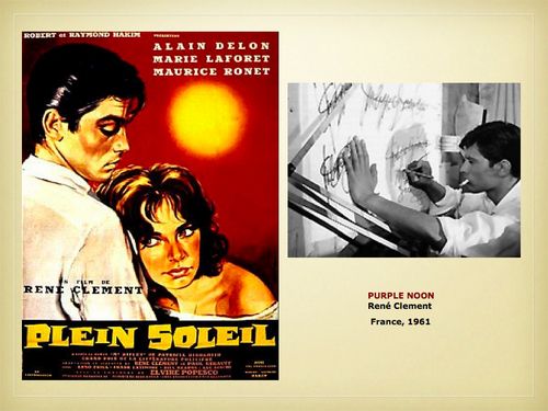 Alain Delon wallpaper possibly containing anime titled Alain Delon - Plein Soleil