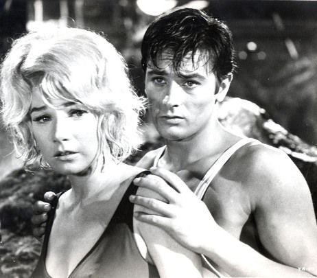 Alain Delon and Shirley McLaine