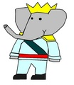 Babar - Palace Ball Outfit - babar-the-elephant fan art