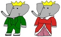 Babar and Celeste - young monarchs - babar-the-elephant fan art