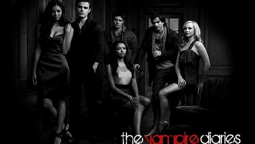 The Vampire Diaries TV tunjuk kertas dinding entitled Banner
