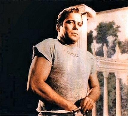 Bill Shatner on set