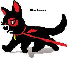 Blackness the dog (Bolts daughter in the 秒 saga)