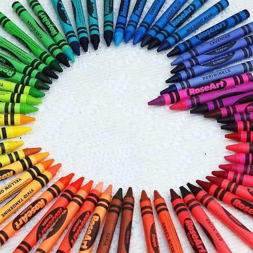 Crayola Обои titled CRAYONS