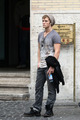 Charlie Bewley, Alone in Rome  - twilight-series photo