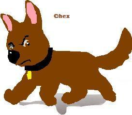 Chex the dog (Bolt's son in the 秒 saga)