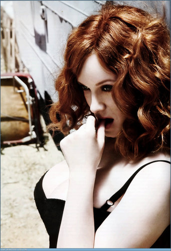 Christina Hendricks wallpaper probably with a portrait entitled Christina Hendricks | Esquire Photoshoot (HQ)