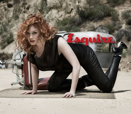 Christina Hendricks wallpaper possibly containing a hip boot titled Christina Hendricks | Esquire Photoshoot
