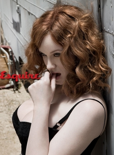 Christina Hendricks wallpaper containing a portrait called Christina Hendricks | Esquire Photoshoot