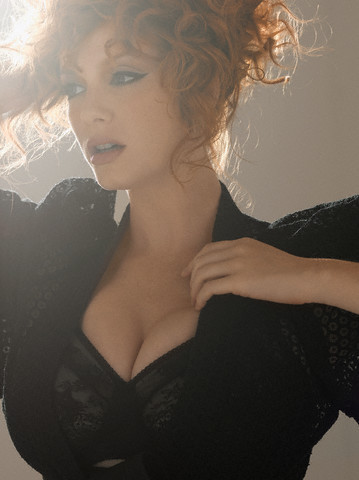 Christina Hendricks wallpaper probably containing attractiveness titled Christina Hendricks | Esquire Photoshoot