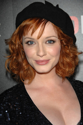 Christina Hendricks wallpaper possibly containing a portrait called Christina Hendricks | Mad Men Season 2 Wrap Party