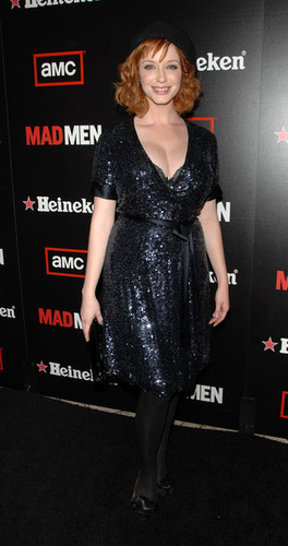 Christina Hendricks | Mad Men Season 2 membungkus, bungkus Party