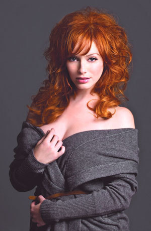 Christina Hendricks wallpaper probably containing a portrait entitled Christina Hendricks | Page Six Photoshoot