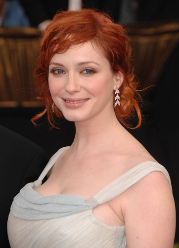 Christina Hendricks wallpaper possibly containing a portrait titled Christina Hendricks | Screen Actors Guild Awards 2008