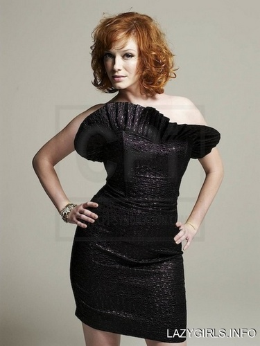 Christina Hendricks achtergrond with a cocktail dress called Christina Hendricks | Unknown Photoshoot