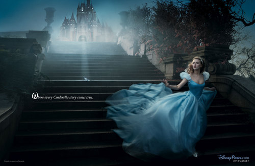 Disney Princess wallpaper probably containing a fountain called Cinderella Scarlett Johanson