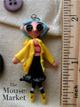 Coraline Mini Me Charm - coraline fan art