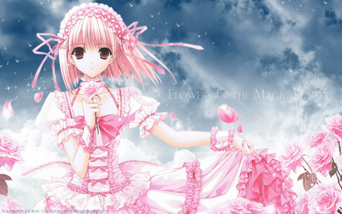 acak role playing wallpaper called Cute girl anime wallpaper