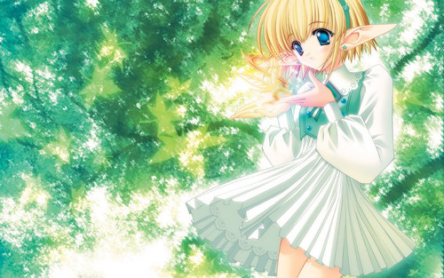 gioco di ruolo casuale wallpaper probably containing a bouquet, a parasol, and a well dressed person entitled Cute girl Anime wallpaper