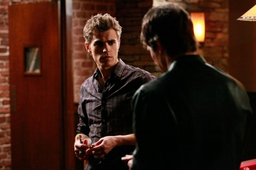 Damon and Stefan Salvatore پیپر وال containing a business suit called Damon and Stefan