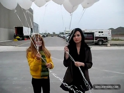 Demi sending balloons to Heaven for their friend Trenton
