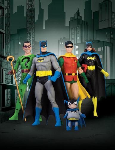 Detective comics statue set