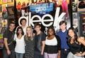 Dianna and Lea with the cast
