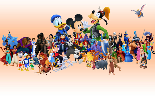 Disney Hintergrund entitled Disney's Characters